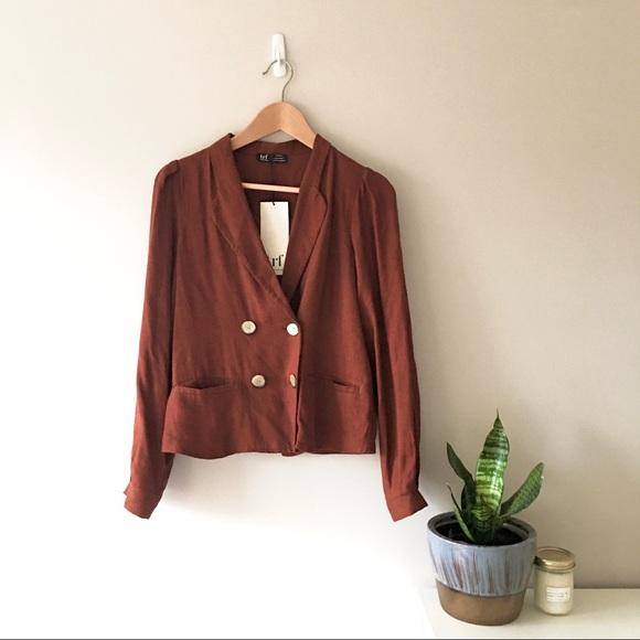 Zara double-breasted blazer, small (NWT)